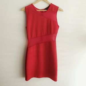 TOPSHOP Petite Bodycon Mini Dress Red Size 6P